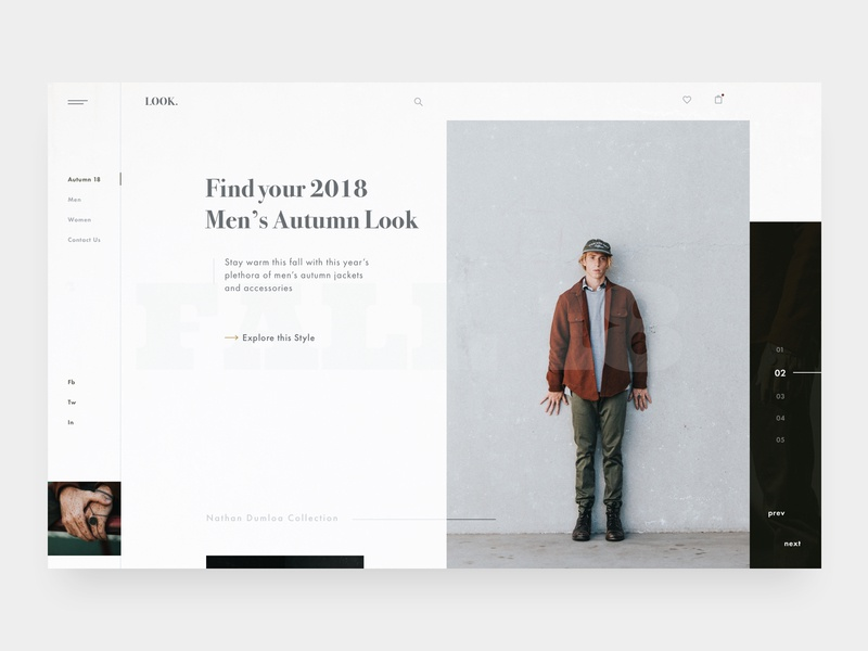 Autumn Lookbook – Layout Exploration I layout exploration grid logo interface design modern web fashion collection autumn ui ux web design