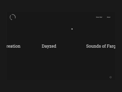 Neon Signs - Videographer Portfolio animation portfolio development greensock website web design interface ux