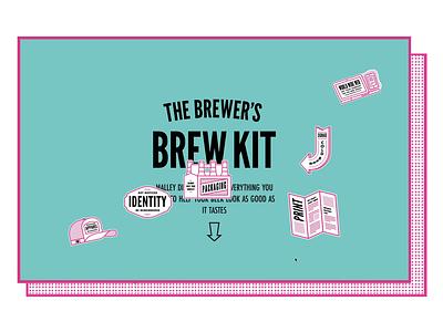 Brewer's Brew Kit Microsite ux design ui development brew stickers sticker animation illustration pattern landing page website web design interface ux