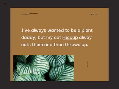 Plant S.O.S – Turner for Plant Daddy send help plant daddy plant ux ux design landing page website web design