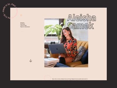 Portfolio – Homepage – Aleisha Samek