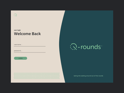 Q Rounds Dashboard minimalistic rounds doctor interface design app ux design web design interface ux