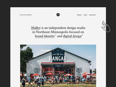 MD Website simple design greyscale minimal design website web design
