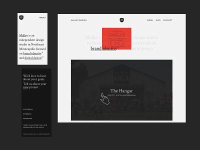 MD Website 2 hand website design website simplistic simple design minimal greyscale design