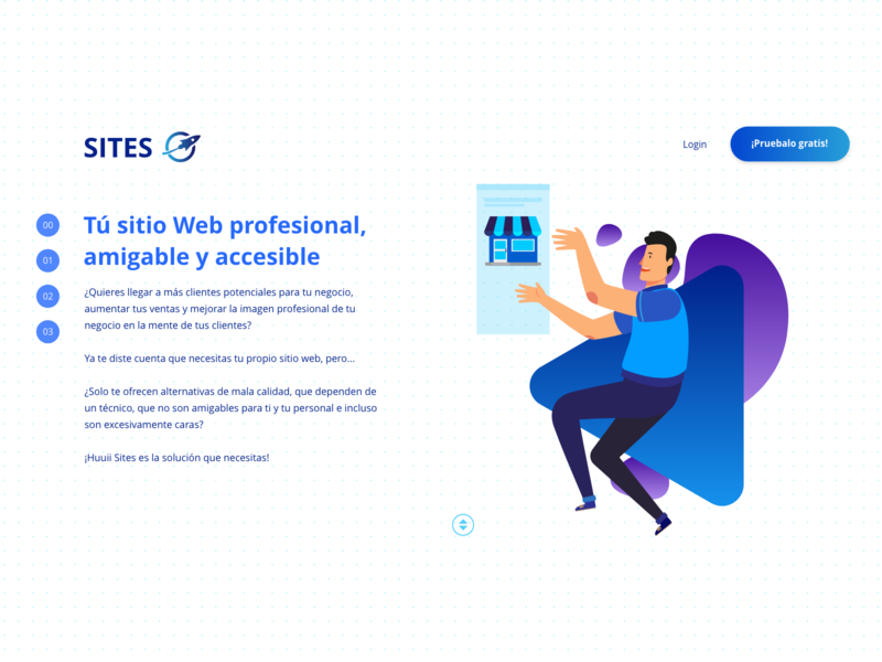 Sites landing page ux vector website design web ui illustration
