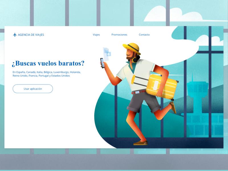 Travel illustration adobeillustator adobexd flat app website vector web ux ui illustration design