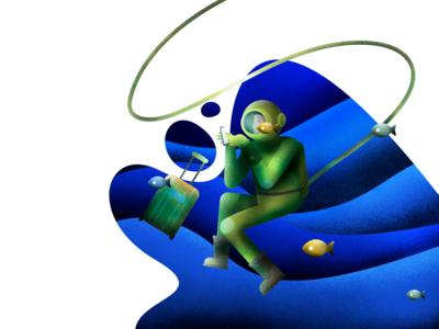Diver Illustration