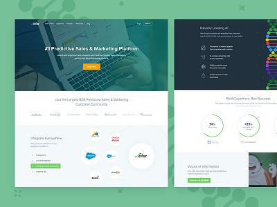 Infer Homepage  predictive scoring website flat clean ux ui marketing homepage