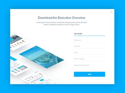 eBook Download Modal form web clean download pop-up modal ebook