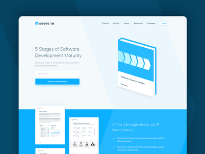 5 Stages eBook Landing Page flat icon illustration arrows webdesign stages clean ux software web landing page ebook