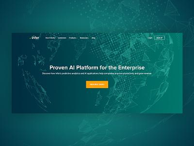 New Hero design flat icon illustration platform analytics abstract globe marketing homepage web design hero