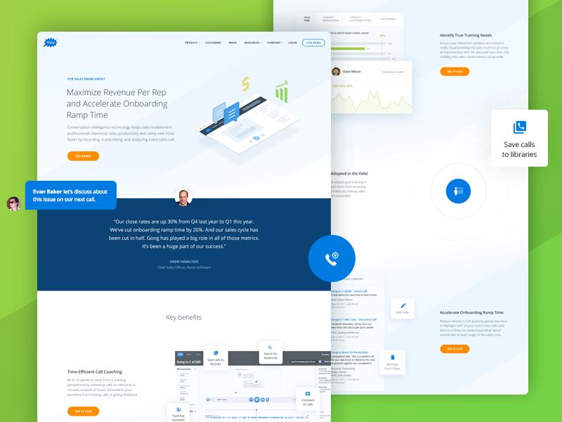Sales Leaders page isometri flat icon illustration coaching website ui leaders sales design webdesign web
