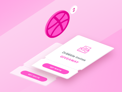 Dribbble Invites isometric icon illustration dribbble invites design player invite giveaway invitations invites dribbble
