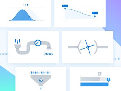 Flat Illustrations graphic abstract blog flat web vector icon ux ui design illustration