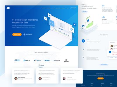 Gong Homepage app website 3d flat web illustration branding vector icon ux ui design