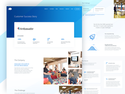 Ambassador Case Study website web vector ux ui illustration icon flat design branding app 3d