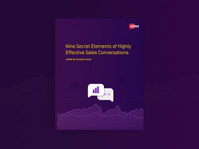 Ebook Cover graphic sales gradient vector illustration conversations book cover ebook