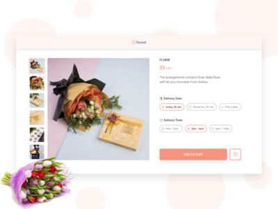 Floward - redesign product page adobexd madewithadobexd roses ecommerce flowershop rose flowers