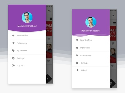 Material design sidebar app menu android material design sidebar