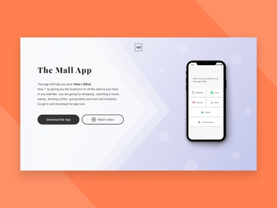 The Mall app landing page - DailyUI003 madewithadobexd interaction design mall header landing page uidesign ui daily 100 challenge dailyui003 dailyui