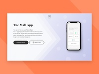 The Mall app landing page - DailyUI003