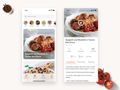 Recipe app adobexd iphonex ios restaurant food recipes recipe app challenge uplabs
