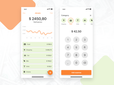 Expenses app ios madewithadobexd adobexd budget wallet finance bank money expenses