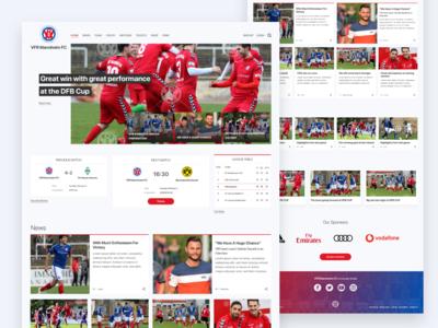 Soccer Club Website madewithadobexd adobexd webdesign news home page landingpage landing page website football soccer club website club