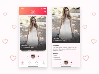 Dating app iphonex ui ux interaction design madewithadobexd app dating dating app datingapp