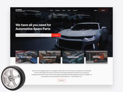 Automotive Spare Parts Website landing page cars madewithadobexd adobexd website car spare spare parts automotive