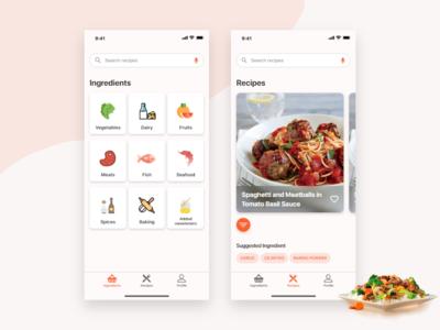 Recipes App ios recipe app healthy food restaurant food ingredients app recipes