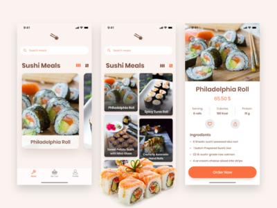 Sushi Restaurant App sushifood madewithadobexd adobexd japanese food recipes food app restaurant sushi