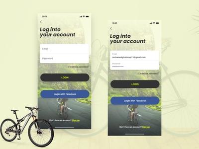 Cycling app madewithadobexd adobexd sport riding biking bicycle cycling