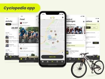 Cycling app workout madewithadobexd adobexd sport riding biking bicycle cycling