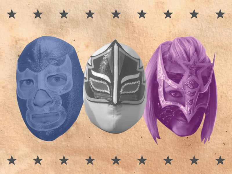 Estrellas de Lucha Libre art director lucha mexico lucha underground lucha libre photography photoshop collage design wrestling latinx mexico luchador