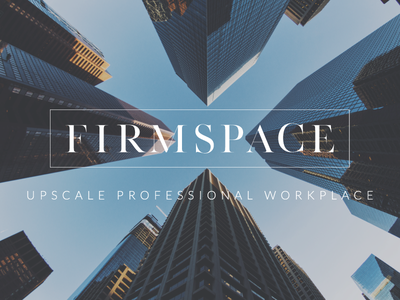 FIRMSPACE Social Media coworking space social media sleek modern urban architecture marketing logo photography branding