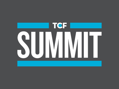 TCF Summit for Survivors & Caregivers social media creative direction graphic design logo tshirt signage banner conference nonprofit typography design branding