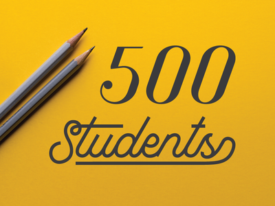 500 Skillshare Students graphic design creative director art director script illustrator typography creative course class freelance design skillshare
