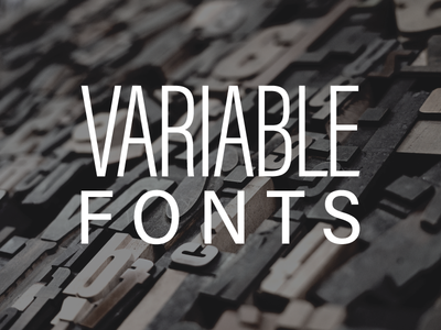 Skillshare Class on Variable Fonts