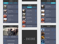 Encore App Screens social media web branding creative music graphic design music app app logo vector illustrator product design design user experience user inteface ux design ux ui