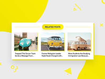 Related Posts - #1st shot blogpost post daily dailyui ux design ui news blogging blog