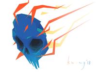 Blue Skull Meteor