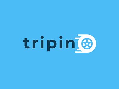 Tripin Car Logo process creative branding design logo trip branding car