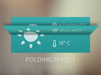 Simple Weather Widget - Folding Effect
