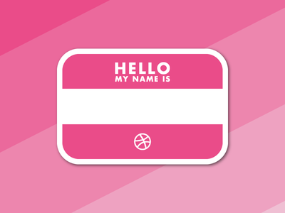 Sticker Mule Playoff tag name pink dribbble