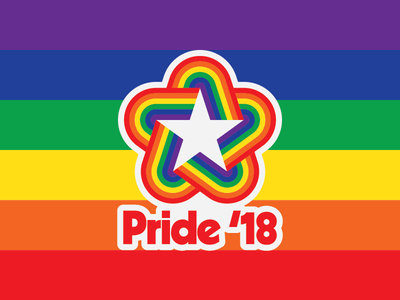Pride '18 Logotype logotype logo kabel bicentennial 1970s pride