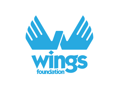 Wings Foundation kabel vector typography type script logotype logo design logo design color branding