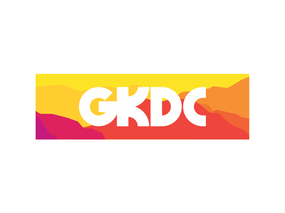 GKDC Thick logo logotype simple vector color flat illustration typography design type branding