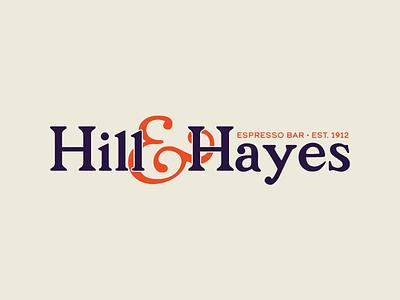 Hill & Hayes Espresso Bar bar espresso calder parish coffee logo design vector type simple typography branding color logotype design logo