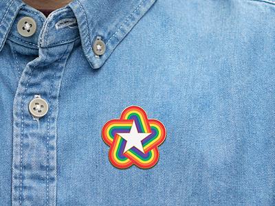 Pride '18 Enamel Pin pride print enamel pin enamelpin pin shirt mock mock-ups mock ups mock-up mock up illustration logo design branding color logotype design logo
